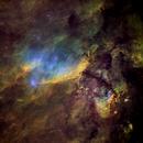 IC4628 Widefield in HST Palette,                                John Ebersole