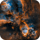 2 Color Mixes on IC1795, the Fishhead Nebula,                                mlewis