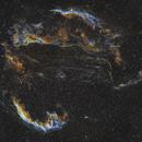 Veil Nebula in HST palette,                                Gordon Haynes
