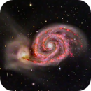 Whirlpool Galaxy in Narrowband,                    KuriousGeorge