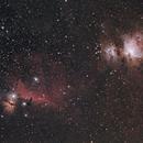 Flame, Horsehead and Orion Nebula,                                pade