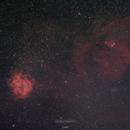 Rosette nebula & Christmas tree cluster,                                David Palinkas