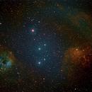 IC405 IC410 Flaming star and tadpoles on RASA 8,                                Piet Vanneste