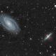 Galaxie de Bode (M81) et du cigare (M82) - Sadr Espagne,                                Julien Bourdette