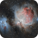 Messier 42 and the Running man nebula,                                Tom's Pics