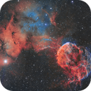The Jellyfish Nebula (IC443) imaged in SHO,                                Andrew Klinger