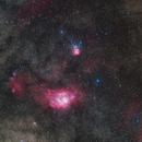 Lagoon Nebula and Trifid Nebula,                                Aleksandr Brychev