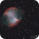 Messier 27 and it's central core white dwarf,                                  John Michael Bell...