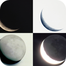 Lune 1205 - 14,5 % - 3,7 j - 135° - mag -8,95 - 381 728 km,                                Ariel