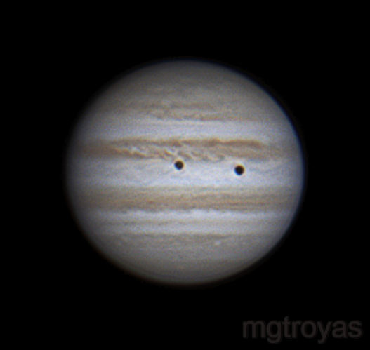Calixto and its shadow over Jupiter ,                                Marcos González T...