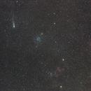 Comet 21/p  -  Messier 35  -  IC445 Jellyfish Nebula  -  NGC2174 Monkeyhead Nebula,                                Robert Huerbsch