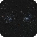 NGC 884 and NGC 869  - Double cluster in Perseus,                                Victor Van Puyenbroeck