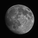 Nearly full moon,                                Skynet Observatory