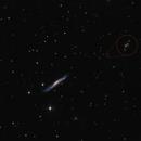NGC 3079 and Twin Quasar QSO 0957+561A/B,                                  Robert Eder