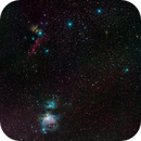 Orion - Wide Field - M42, Running Man, M78, Horse Head and Flame Nebulae,                                Steven E Labkoff