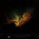 NGC 7380 - Wizard Nebula in SHO (starless) - Hubble Palette,                    Uwe Deutermann
