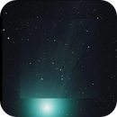 Comet Lovejoy 2014 Q2 video animation, motion tracked, tail magnified from 22:13 PST 1/13/2015 - 01:22PST 1/14/2015,                                Tom Masterson