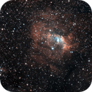 Sh2-157 - Sh2-162 (NGC7635, Cal 11) - Sh2-158 (NGC7538): The Lobster and the Bubble in SHO-RGB,                                  Uwe Deutermann