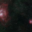 Lagoon & Trifid nebula,                                Janos Barabas