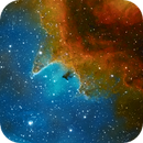 IC 1848, Soul Nebula, Narrow-field Animation, Narrowband Hubble Palette Image versus Infrared Image,                                Eric Coles (coles44)
