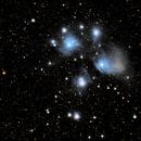 Pleiades star cluster,                                Mark Burkatzki