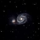 M51 - Whirlpool Galaxy - Poor Seeing,                                Dave