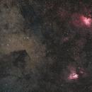 Eagle and Swan / M16, M17 and Barnard 312,                                  Gabriel Siegl