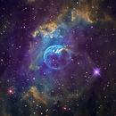 Bubble Nebula in Narrowband,                                Eddie_R