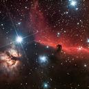 Horse head nebula IC434 RGB version,                                Jocelyn Podmilsak