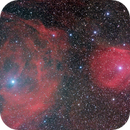 Sh2-1 and Sh2-7 rarely imaged Halpha emission at Pi Scorpio,                    hbastro