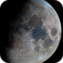 The 9 Days Old Moon in Color and Mineral,                                astropical