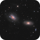 Galactic duo NGC 3169 and NGC 3166 in Sextans,                                José Joaquín Pérez