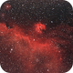 Seagull nebula with dual band filter only,                                paddy36