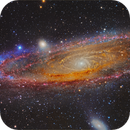 M31 Mosaic : LRGB and INFRARED contribute,                                Francesco Antonucci