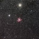 Pacman Nebula (NGC281) area, from a very dark sky,                                Luigi Fontana