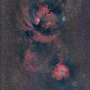 NGC 2244 to NGC 2264 (Rosette Nebula widefield),                                jan7702