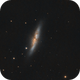 M82 with a Mak 180 (FL 2639mm),                                Axel