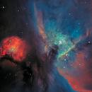 M42 center part, a mixed Lum, PI Bi-Color picture, version3,                                  Niels V. Christensen