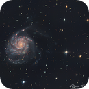 M101 - Pinwheel Galaxy in RGB,                                  Simon Todd