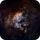 Ced 214 (Cederblad 214 - part of NGC 7822) in SHO narrowband,                                HaSeSky
