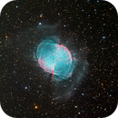 The Dumbbell Nebula - M27 - RGB Image with Hubble Palette Luminosity,                                Eric Coles (coles44)