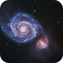 M51 - The Whirpool Galaxy (re-edit drizzle 2x),                                Gianni Cerrato