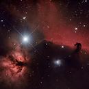 Horsehead and Flame Nebula (Barnard 33 and NGC 2024),                                Starlancer
