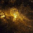 NGC 3576 Hubble palette,                                DavidLJ