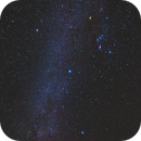 The winter sky above Maunakea, and the LMC,                                Wei-Hao Wang
