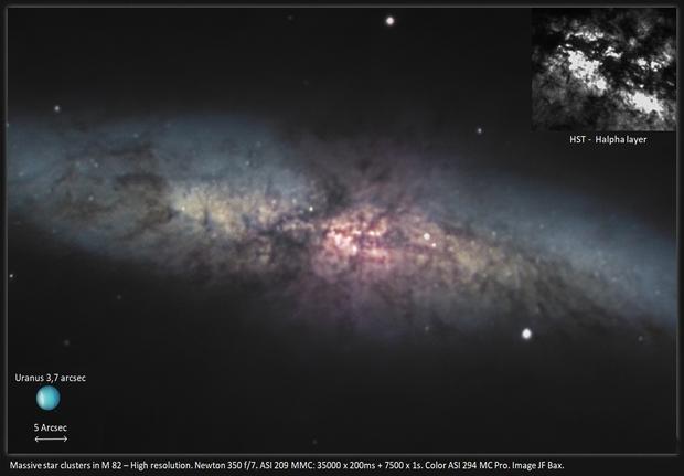 Massive star clusters in M 82 - High resolution,                                Jeffbax Velocicaptor