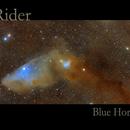 Night Rider - Blue Horsehead Nebula,                                  Rudy Pohl