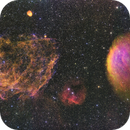 Supernova Remnant Sh2-221: The Fruit Salad Nebula --- mosaic 1*3,                                WildDuck