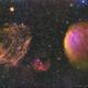 Supernova Remnant Sh2-221: The Fruit Salad Nebula --- mosaic 1*3,                                WildDuck