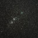 Comète Hartley et Double amas de Persée,                                Serge Golovanow